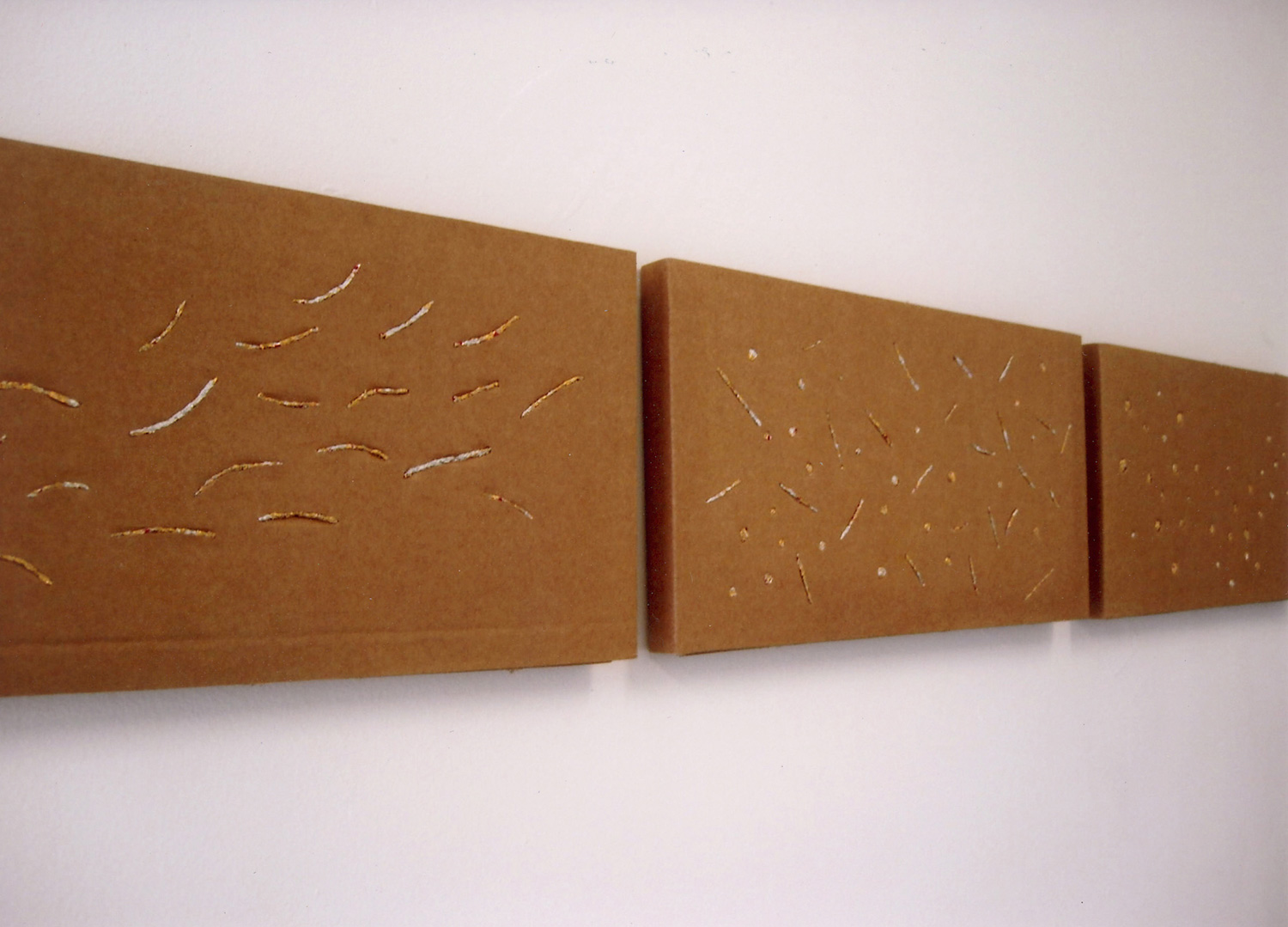 cosmos 2007  ︱  chocolate wrappings, cardboard  ︱  200 x 400mm